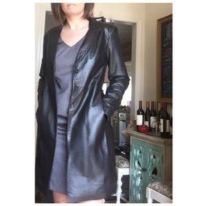 Express Long Black Soft Leather Jacket